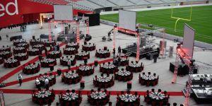 Corporate Dinner on Stadium Floor Spotlight.JPG