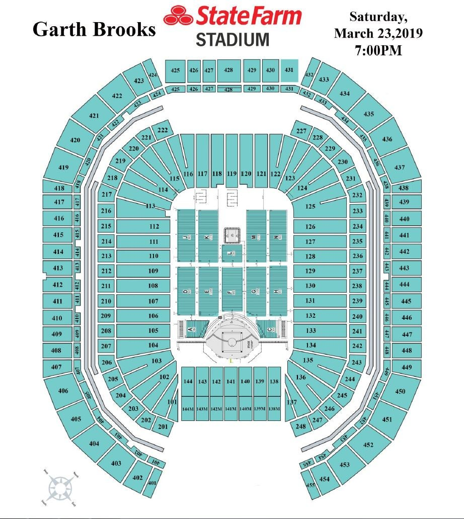 Garth Brooks Seating Chart More Info Arizona Cardinals